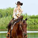 young horsewoman on horseback
